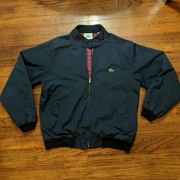 81a9092c Lacoste Jackets & Coats | Vintage Navy Golf Jacket Plaid Lining M ...